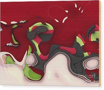 Abstrakto - 95a Wood Print