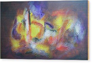 Abstrato Pf Zo Oopp Wood Print by Fernando Antonio