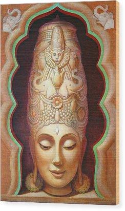 Abundance Meditation Wood Print by Sue Halstenberg