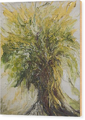 Abundance Tree Wood Print