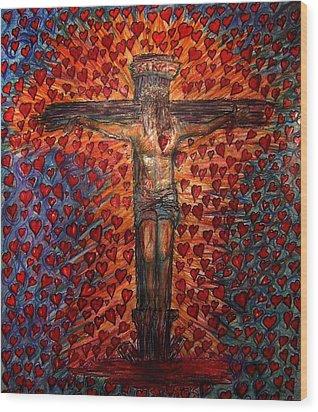 Abundant Love Wood Print by Richard  Hubal
