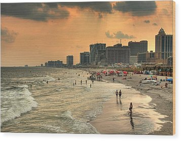 Ac Shore Wood Print by John Loreaux