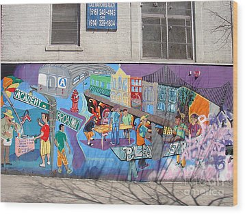 Academy Street Mural Wood Print by Cole Thompson