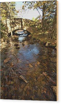 Acadia Bridge Wood Print by Alexander Mendoza