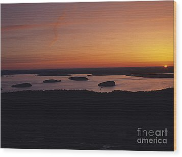 Acadia National Park - Maine Usa Wood Print by Erin Paul Donovan