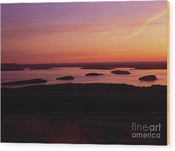 Acadia National Park Maine - Frenchman Bay Wood Print by Erin Paul Donovan