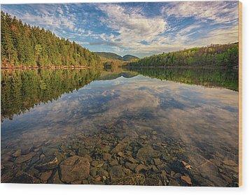 Acadian Reflection Wood Print by Rick Berk