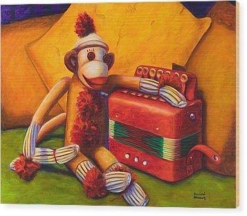 Accordion Wood Print by Shannon Grissom