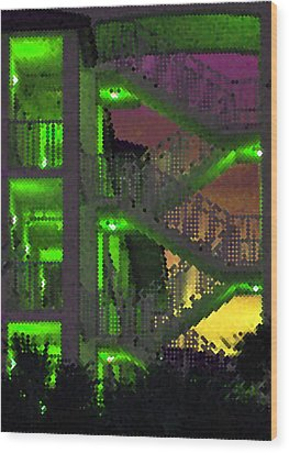 Acid Glow Wood Print by Rose  Hill
