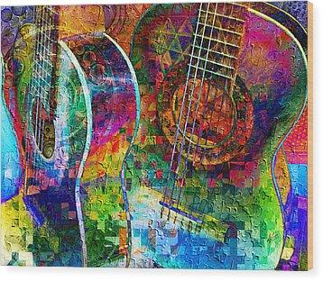 Acoustic Cubed Wood Print