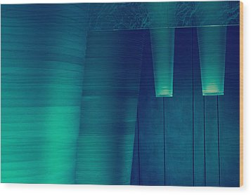 Wood Print featuring the photograph Acoustic Wall by Bobby Villapando
