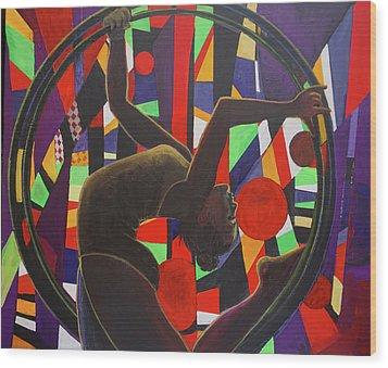 Acrobat In Ring Wood Print