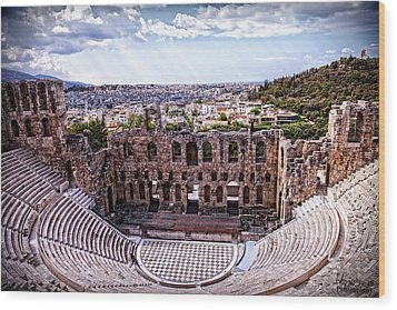 Wood Print featuring the photograph Acropolis by Linda Constant