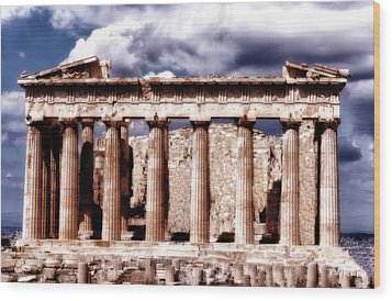Wood Print featuring the photograph Acropolis Of Greece by Linda Constant