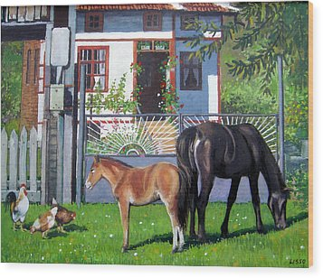 across Bulgaria 7 Wood Print by Stoian Pavlov