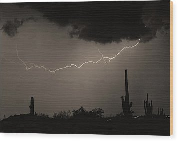 Across The Desert - Sepia Print Wood Print by James BO  Insogna