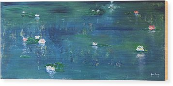 Across The Lily Pond Wood Print