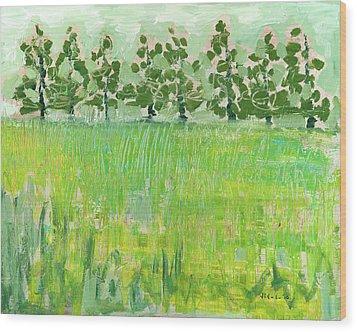 Across The Meadow Wood Print by Jennifer Lommers