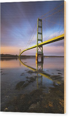 Wood Print featuring the photograph Across The Reach by Patrick Downey