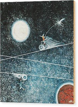 Across The Universe Wood Print by Graciela Bello