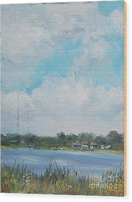 Across Winona Wood Print by Mike Yazel
