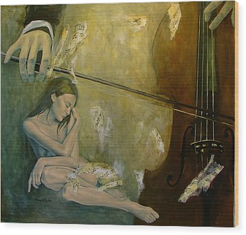 Adagio  Sentimental Confusion Wood Print by Dorina  Costras