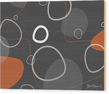 Adakame - Atomic Abstract Wood Print by Bill ONeil