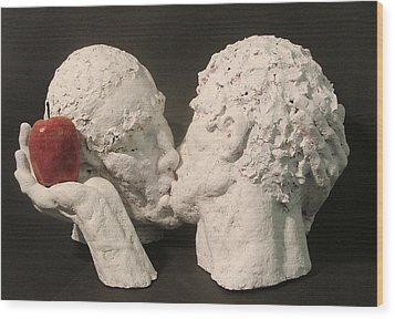 Adam And Adam Wood Print by Gary Kaemmer