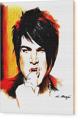Adam Lambert Wood Print by Lin Petershagen