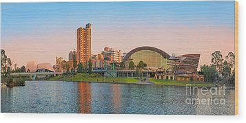 Adelaide Riverbank Panorama Wood Print