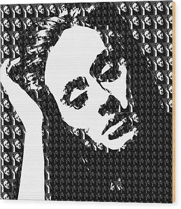Adele 21 Album Cover Digital Art Wood Print by Ryan Dean