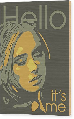 Adele Wood Print by Greatom London