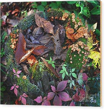 Adirondack Autumn Bouquet Wood Print
