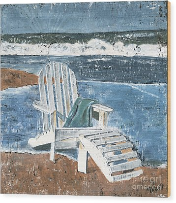 Adirondack Chair Wood Print by Debbie DeWitt