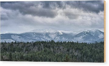 Wood Print featuring the photograph Adirondack High Peaks During Winter - New York by Brendan Reals