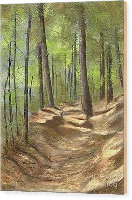 Adirondack Hiking Trails Wood Print by Judy Filarecki