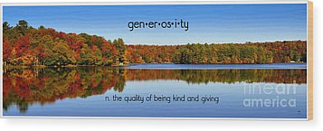 Wood Print featuring the photograph Adirondack October Generosity by Diane E Berry