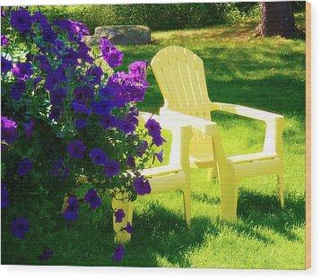 Adirondack Summer Days Wood Print