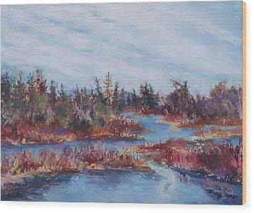Adirondak Concerto Wood Print by Alicia Drakiotes