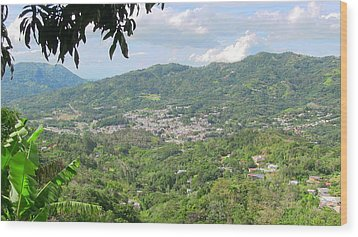 Adjuntas Town Wood Print
