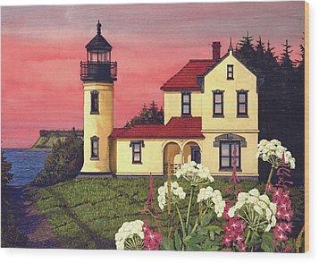 Admiralty Head Lighthouse  Wood Print by James Lyman