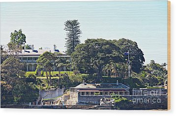 Wood Print featuring the photograph Admiralty House by Stephen Mitchell
