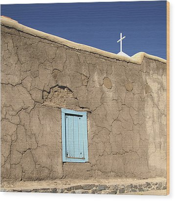 Adobe Church Taos Wood Print