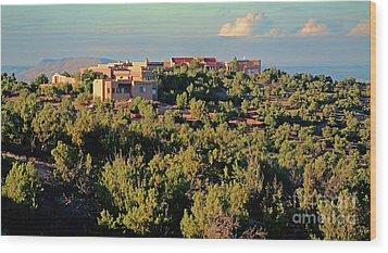 Wood Print featuring the photograph Adobe Homestead Santa Fe by Diana Mary Sharpton