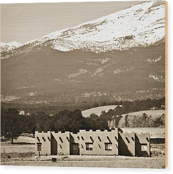 Adobe House Wood Print by Marilyn Hunt