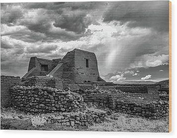 Wood Print featuring the photograph Adobe, Stones, And Rain by James Barber