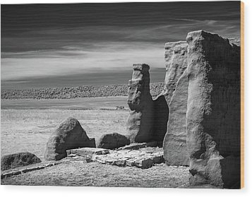 Wood Print featuring the photograph Adobe Walls by James Barber
