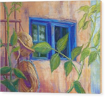 Adobe Windows Wood Print by Candy Mayer