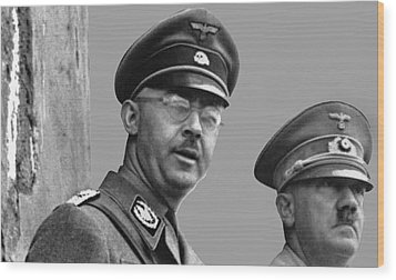 Adolf Hitler And Gestapo Head Heinrich Himmler Watching Parade Of Nazi Stormtroopers 1940-2015 Wood Print by David Lee Guss