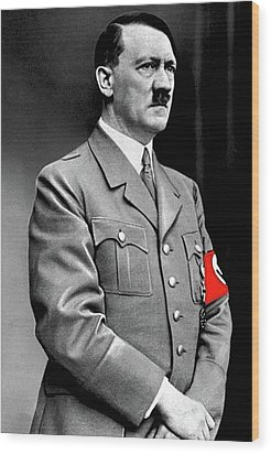 Adolf Hitler The Visionary Circa 1941 Color Added 2016 Wood Print